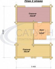 Проект Комфорт-2 - План 2 этажа